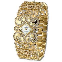 Haurex Italy Ducale Women's Goldtone Crystal Watch