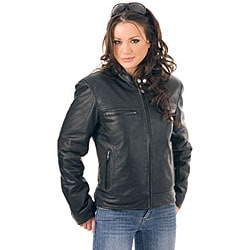 Mossi Women's Classic Leather Jacket