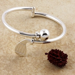 Sterling Silver Hinged Golf Club Bracelet (Mexico)