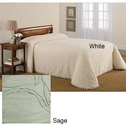 Tufted Chenille Bedspread Set (Sage - Queen)