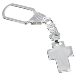 Sterling Essentials Sterling Silver Cross Keychain