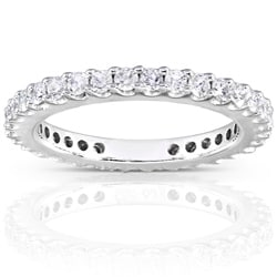 14k Gold 3/4ct Round Diamond Eternity Band