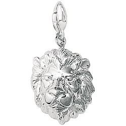 Sterling Silver 'Lion Head' Charm