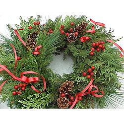 Winter Wonderland Fresh-cut Wreath