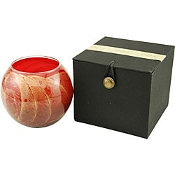 Cranberry Candle Globe Polished Candle