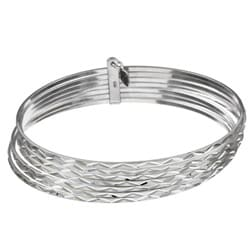 Sterling Essentials Sterling Silver Swiss-cut Bangle Bracelet