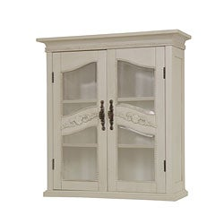 cambridge antique ivory wall cabinet 11608142