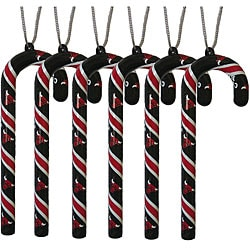 Chicago Bulls Candy Cane Ornament Set