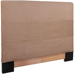King Sandstone Microsuede Slipcovered Headboard