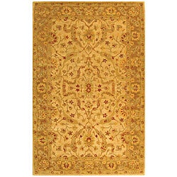 Safavieh Handmade Antiquities Treasure Ivory/ Brown Wool Rug (5' x 8')