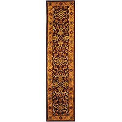 Safavieh Handmade Golden Jaipur Burgundy/ Gold Wool Runner (2'3 x 10')