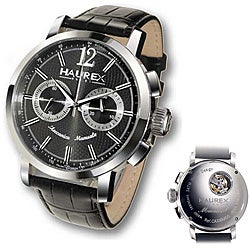 Haurex Italy Men's Maestro Mechanical Chronograph Watch.