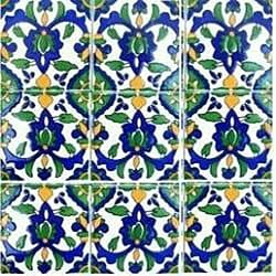 Dorra Accent Ceramic Tiles (Set of 9)