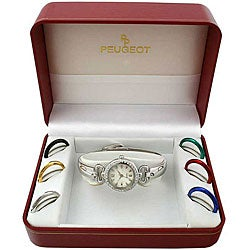 Peugeot Women's 7-piece Interchangable Bezel Watch Set
