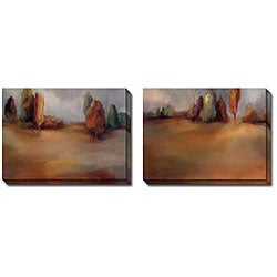 Gallery Direct Caroline Ashton 'Golden Meadow I and II' 2-piece Canvas Art Set