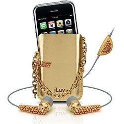 iLuv Crystal In-ear Earphones/ Holster Case for iPhone 3G
