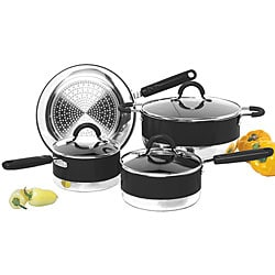 Aluminum 7-piece Nonstick Dual Tone Cookware Set