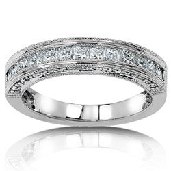 14k Gold 3/4ct TDW Princess Diamond Band