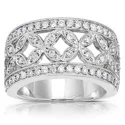 14k Gold 1/2ct TDW Diamond Floral Anniversary Band (G-H, I1-I2)
