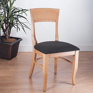 Biedermier Natural-Finished Chairs (Set of Two)