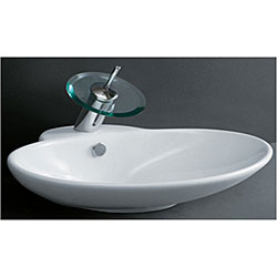 Com shopping great deals on premier copper products bathroom sinks - Porcelain Oval White Bathroom Vessel Sink 11714207