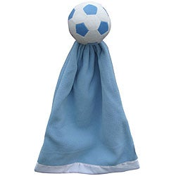 Generic Blue Polyester Soccer Snuggleball and Fleece Blanket