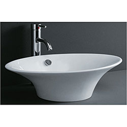 DeNovoTulip-shaped Porcelain Bathroom Vessel Sink