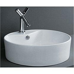 Round Flush Porcelain Bathroom Vessel Sink