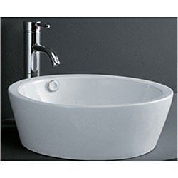 Porcelain Cylindrical Bathroom Vessel Sink