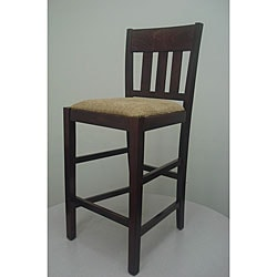 Dark Mahogany Skillman Counter Stool with Neutral Seat
