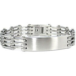Brushed Finish Stainless Steel ID Link Bracelet