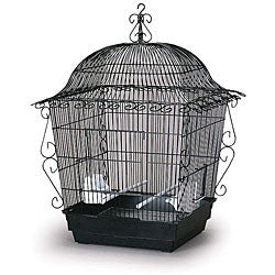 Prevue Pet Products Jumbo Scrollwork Bird Cage 220BLK Black
