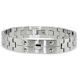 Stainless Steel Men's Screw Link Bracelet