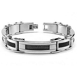 Stainless Steel Men's Cable Link Bracelet