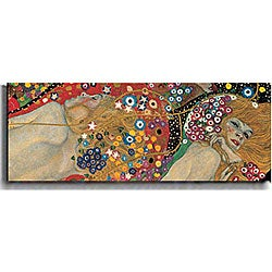 Gustav Klimt 'Sea Serpents (Detail)' Canvas Art