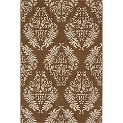 Machine-made Brown Wool Rug (7'9 x 9'9)