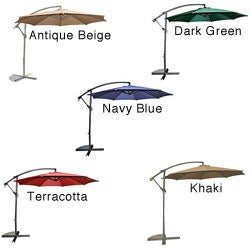 Aluminum 10-foot Offset Umbrella
