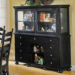 Black Cottage China Cabinet