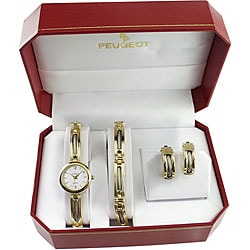 Peugeot Women's Goldtone Watch Gift Set