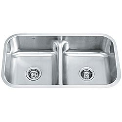 VIGO Contemporary 32-Inch Undermount Stainless-Steel 18-Gauge Double-Bowl Kitchen Sink