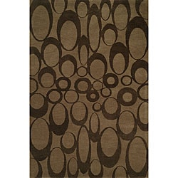 Hand-tufted Brown Wool Rug (9' x 12')