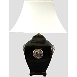 Black Square Jar Lamp (China)