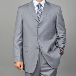 Giorgio Fiorelli Men's 3-button Solid Grey Suit
