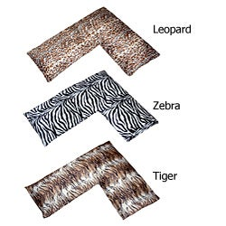 Animal Shaped Body Pillows : Plush Animal Print L-shaped Body Pillow - 11774635 - Overstock.com Shopping - Great Deals on ...