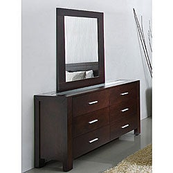 Hamptons 6-drawer Dresser with Mirror