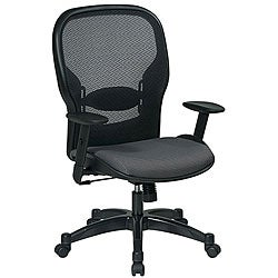 Office Star Space Series Air Grid Backed Grey Fabric Seat Chair