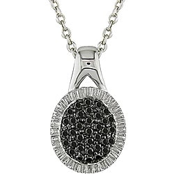 M by Miadora Sterling Silver 1/3ct TDW Black Diamond Necklace