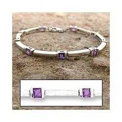 'Current' Amethyst Bracelet (India)