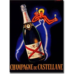 Falcucci 'Champagne de Castellane' Gallery-wrapped Art Print