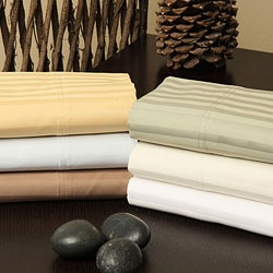Egyptian Cotton Striped 1200 Thread Count Pillowcase Set